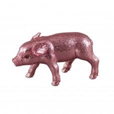 Glitzer Schweinchen Rosa Groß - zauberhafte Dekofigur Schwein in rosafarbenem Glitzer