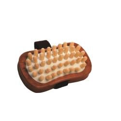 Cellulitebürste aus dunklem Holz mit Holznoppen Croll&Denecke