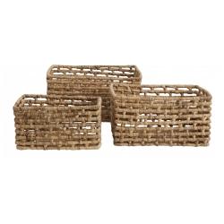 Korb aus Wasserhyazinthe von Nordal erhältlich in 3 Größen für natürliche Aufbewahrung