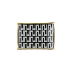 Glasteller Golden Dots von GiftCompany 10x0,8x14,2 Aufbewahrung für Schmuck und Kleinigkeiten