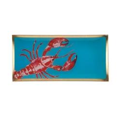 Glasteller Hummer Lobster von GiftCompany 10x0,8x21 Aufbewahrung für Schmuck und Kleinigkeiten