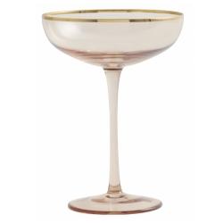 Goldie Cocktailglas mit Goldrand von NORDAL Champagnerschale