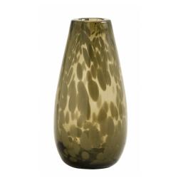 Vase Deco clear, Farbe Braun, von Nordal H 17cm Fleckenmuster Handarbeit Glas