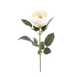 Kunstblume Rose Carla Spray cremefarben 70 cm Weiße Rose