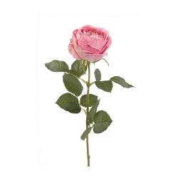 Kunstblume Rose Carla Spray Rosafarben 70 cm Roséfarbene pinke Rose