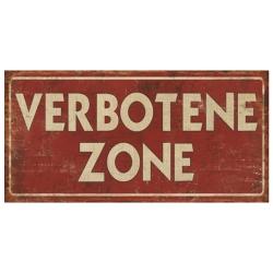 Deko-Metallschild Verbotene Zone 30x13 cm