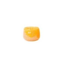 Dutz Pot mini Mandarine Bubbles H 6 cm D 8 cm Windlicht