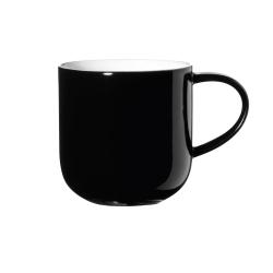 Henkelbecher schwarz innen weiß von Asa Selection 0,4 L