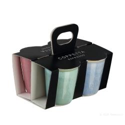 4er Set Espresso-Becher bunt Landhaus-Stil von Asa Selection 0,1 L im Geschenkkarton