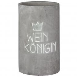 Weinkühler aus Beton mit schicker Prägung Weinkönigin / Weinkönig