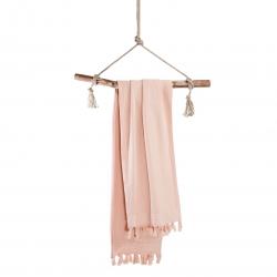Hammamtuch Soft Cotton von Walra mit Fransen 100x180 cm Rosa