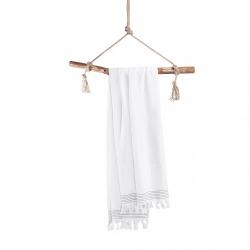 Hammamtuch Soft Cotton von Walra mit Fransen 100x180 cm Weiß