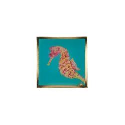 Glasteller Seepferdchen Cote DAzur von GiftCompany 10x0,8x10 Aufbewahrung für Schmuck und Kleinigkeiten