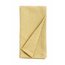Serviette aus Stoff gelb von NORDAL 40x40 cm Baumwolle u. Leinen Maschinenwäsche 30 Grad
