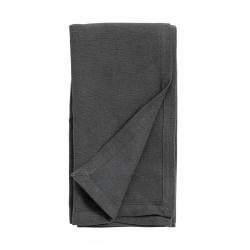 Serviette aus Stoff dunkelgrau anthrazit von NORDAL 40x40 cm Baumwolle u. Leinen Maschinenwäsche 30 Grad