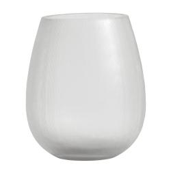 Teelichthalter Windlicht aus klarem Glas mit feinen Linien von Nordal D 10 cm