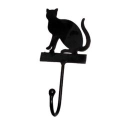 Katze Wandhaken Garderobenhaken Kätzchen aus Gusseisen 14x6x4 cm