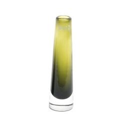 Dutz Vase Olive grün 21 cm kleine Glasvase Solifleur