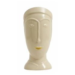 FACIA Deko Kopf auf Porzellan von Nordal mit goldener Lippe 29,5 cm