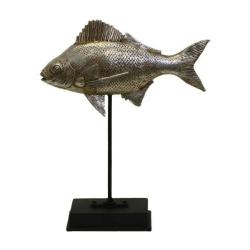 Fisch-Statue auf Ständer 22x7x26cm Schöner dicker Fisch