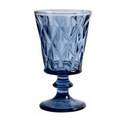 Weißweinglas Diamond in Blau opulent im Kristall-Look von NORDAL