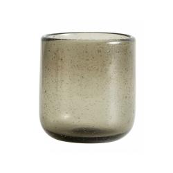 Maroc Trinkglas von NORDAL klare Form Farbe Smoke, Grau, Handgemacht