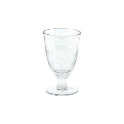 Dutz Glas auf Fuß Clear Bubble H 13 D 8 Trinkglas mit Lufteinschlüssen
