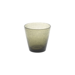 Dutz Glas Conic Clear Bubble Grey H 8,5 D 9 Trinkglas mit Lufteinschlüssen grau