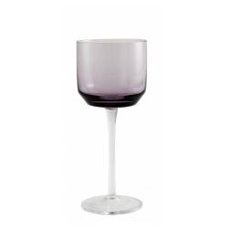 Retro Rotweinglas von NORDAL klare Form Farbe Purple Violett