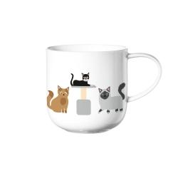 Henkelbecher Cats von Asa Selection 0,4 l Katzenmotiv