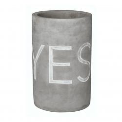 Weinkühler aus Beton mit schicker Prägung YES WHY NOT