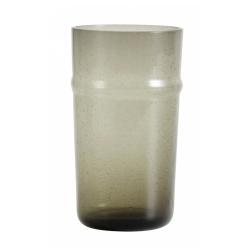 Airy Trinkglas von NORDAL mit Luftblasen, grau, Handgemacht