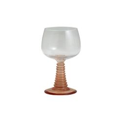 Gorm Römer Weinglas mit pinkem Fuß von NORDAL