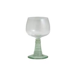 Gorm Römer Weinglas mit hellgrünem Fuß von NORDAL