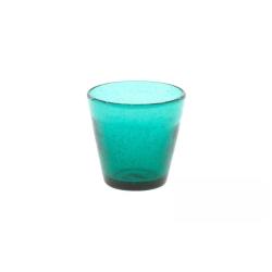 Dutz Glas Conic Bubble Grünblau H 8,5 D 9 Trinkglas mit Lufteinschlüssen