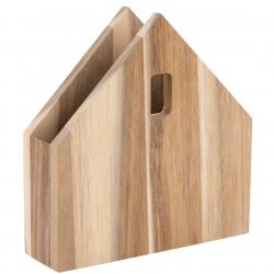 Serviettenhaus klein aus Akazienholz von Raeder 16x15,5x4 cm