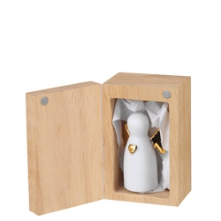 Kleiner Glücksbringer Engelbegleiter in süßer Holzbox 3,5x5,5 cm