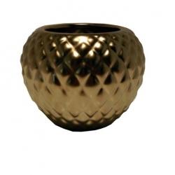 Ananas-Vase goldene Deko-Vase