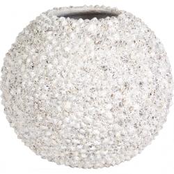 Pflanzgefäß Beach Vase 40 cm Muschel weiß