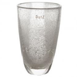 Elegante Glasvase Dutz Blumenvase Glas klar mit Lufteinschluss 21 cm