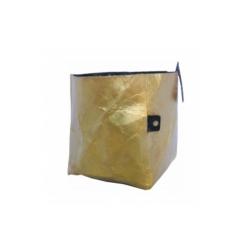 Übertopf oohh Fairtrade stabiler Papier-Übertopf goldfarben