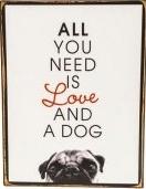 Metallschild für Hundefreunde 26 cm x 35 cm