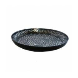 Schälchen Metall schwarz gehämmert Konfektschälchen 15 cm