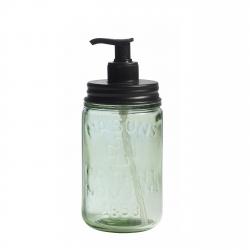 Seifenspender von Nordal aus grünem Glas