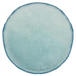 Kissen MISS runde Form türkis 40 cm abnehmbarer Bezug