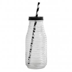 Glasflasche für Strohhalm Limonaden-Flasche für unterwegs von Nordal