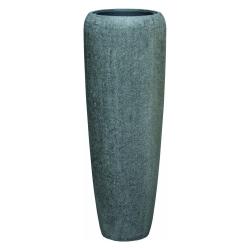 Pflanzgefäß Vase Polystone steingrau für innen und außen