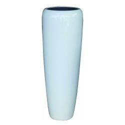 Pflanzgefäß Vase hochglanz weiß für innen und außen