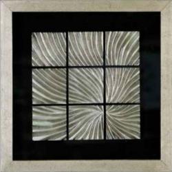 Wandobjekt Cato Bild aus Holz Glas Metalloptik 40x40 cm