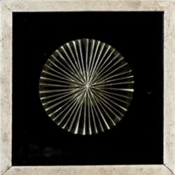 Bild Prime III Wandobjekt aus Holz Glas Metalloptik 3D